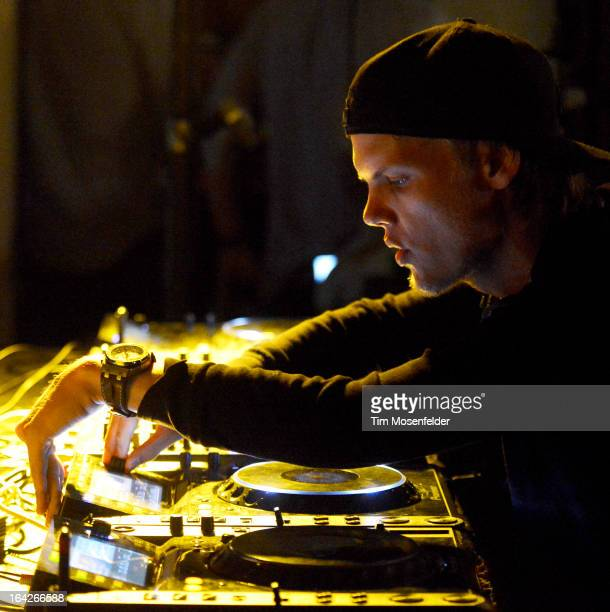 Avicii performs at his House For Hunger Party at a private residence on March 21 2013 in Miami Beach Florida