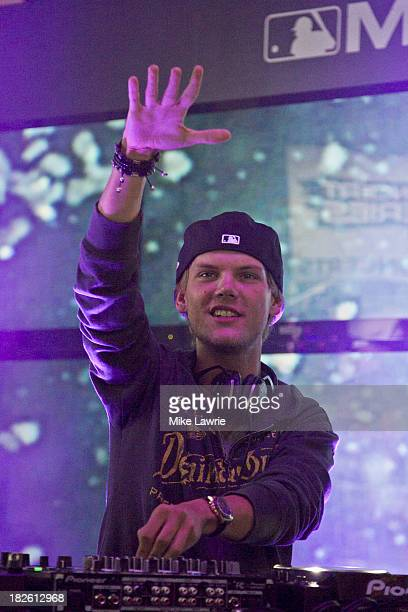 Avicii performs at the MLB Fan Cave on October 1 2013 in New York City