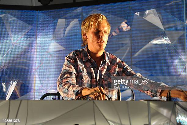 Avicii performs during day 2 of 2010 Electric Zoo held at Randall's Island Park on September 5 2010 in New York City