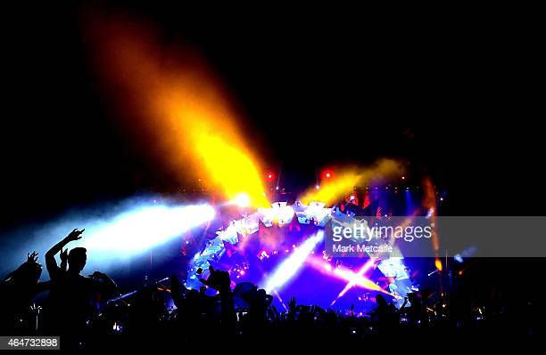 Avicii performs during the Future Music Festival at Royal Randwick Racecourse on February 28 2015 in Sydney Australia