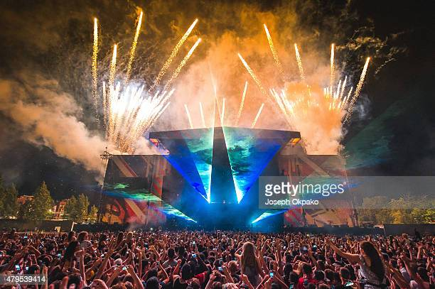 Avicii performs on Day 2 of the New Look Wireless Festival at Finsbury Park on July 3 2015 in London England