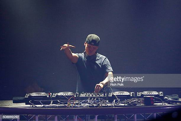 Avicii performs onstage during Rolling Stone Live SF with Talent Resources on February 7 2016 in San Francisco California