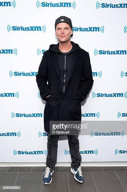 Avicii visits SiriusXM Studios on February 11 2016 in New York City