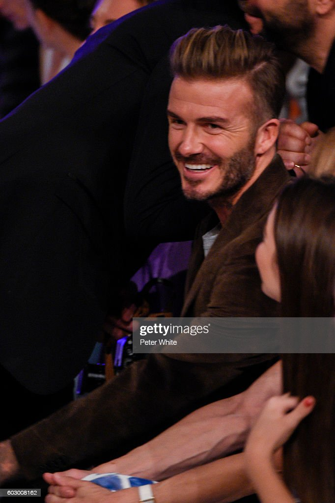 avid Beckham attends the Victoria Beckham Women's Fashion Show during New York Fashion Week on September 11, 2016 in New York City.