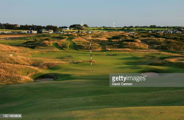 Aview from the approach to the 405 yards par 4, 17th hole 'Purgatory' on the Dunluce Links at Royal Portrush Golf Club the venue for The Open...