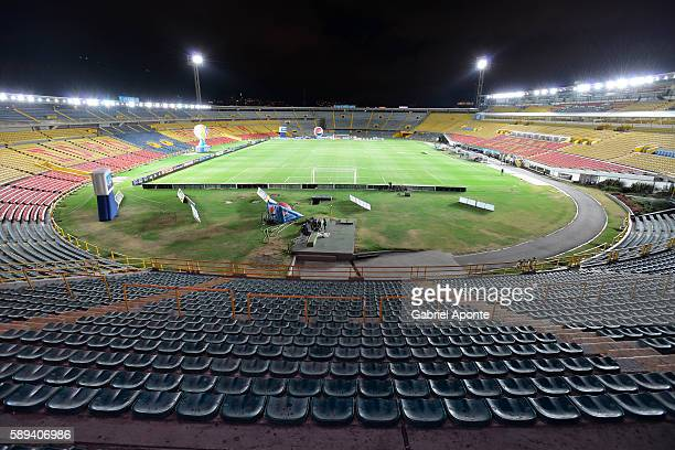 Aview inside El Campin Stadium prior a match between Millonarios and Fortaleza as part of round eight of Liga Aguila II 2016 at Nemesio Camacho El...