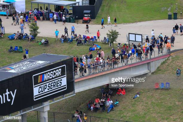 Aview of the infield pedestrian bridge during the inaugural EchoPark Automotive Texas Grand Prix NASCAR Cup Series race on May 23, 2021 at the...