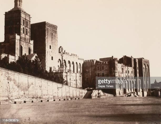 Avignon Palais des Papes 1859 or after Albumen silver print from glass negative Image 336 x 434 cm Photographs ƒdouard Baldus