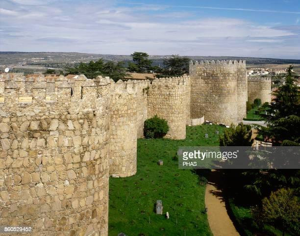 Avila Medieval wall 12th century Castile and Leon Spain