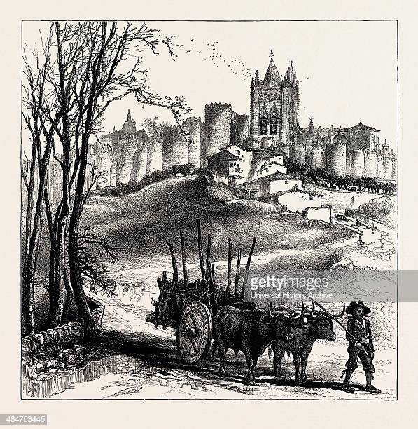 Avila Spain 19th Century Engraving