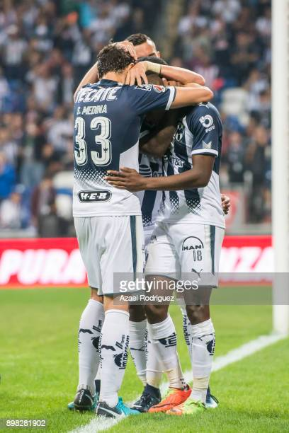 Aviles Hurtado of Monterrey celebrates after scoring his team's first goal during the Final match between Monterrey and Pachuca as part of the Copa...