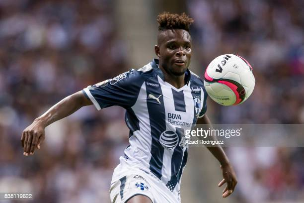 Aviles Hurtado of Monterrey controls the ball during the 6th round match between Monterrey and Toluca as part of the Torneo Apertura 2017 Liga MX at...