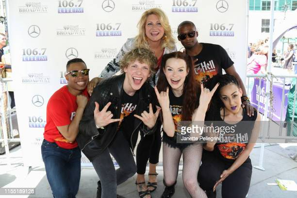 Avionce Hoyles Andrew Polec Tyrick Wiltez Jones Danielle Steers and Christina Bennington from the cast of Bat Out of Hell with Host Delilah attend...