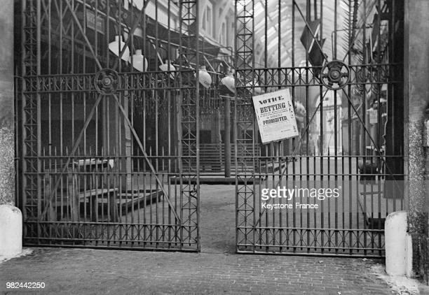 Avis sur les grilles du marché de la viande dans le quartier de Smithfield à Londres en Angleterre au RoyaumeUni en 1936