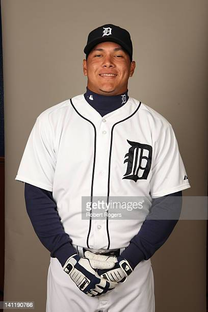 Avisail Garcia of the Detroit Tigers poses during Photo Day on Tuesday February 28 2012 at Joker Marchant Stadium in Lakeland Florida
