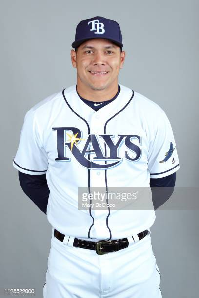 Avisail Garcia of the Tampa Bay Rays poses during Photo Day on Sunday February 17 2019 at Charlotte Sports Park in Port Charlotte Florida
