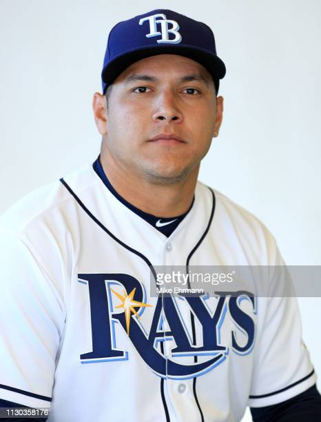 Avisail Garcia of the Tampa Bay Rays poses for a portrait during photo day on February 17 2019 in Port Charlotte Florida