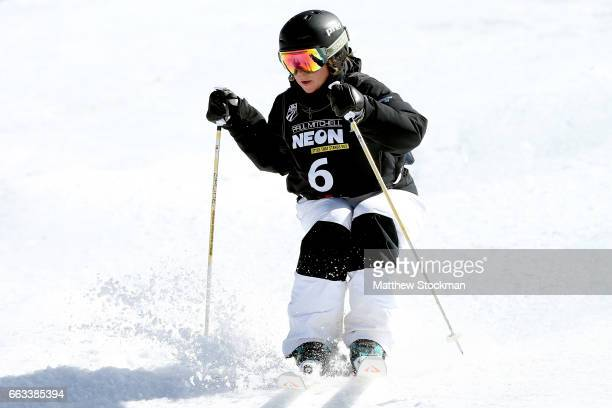 Avital Shimko competes in the ladies dual moguls during the US Freestyle Championships at Steamboat Resort on April 1 2017 in Steamboat Springs...