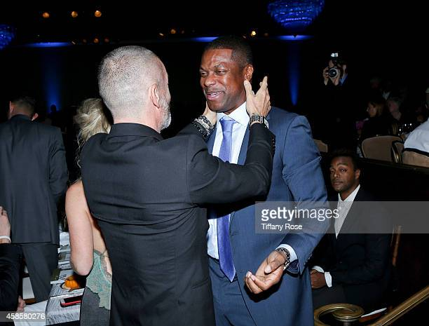 Aviv Nevo and actor Chris Tucker attend the Friends Of The Israel Defense Forces 2014 Western Region Gala at The Beverly Hilton Hotel on November 6...