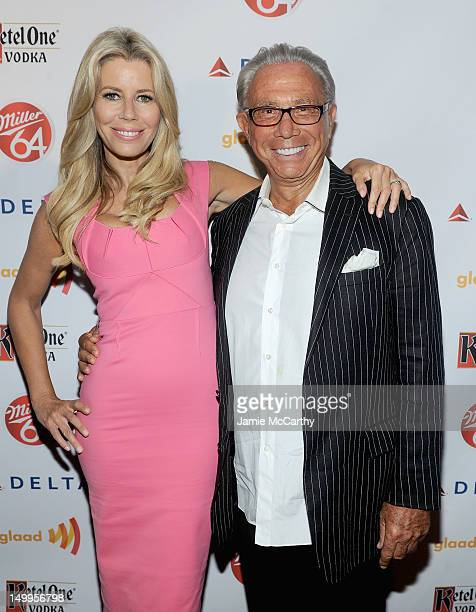 Aviva Drescher and George Teichner attend the GLAAD Manhattan Summer Event at Humphrey at the Eventi Hotel on August 7 2012 in New York City