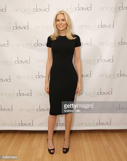 Aviva Drescher attends Aviva Drescher's 'Leggy Blonde' book launch celebration at Angelo David Salon on March 12 2014 in New York City