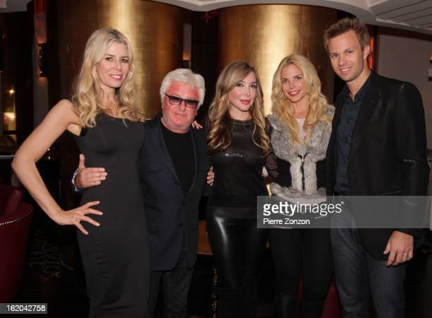 Aviva Drescher from The Real Housewifes of New York City music producer Marc Cerrone and Marysol Patton and Alexia Echevarria from The Real...