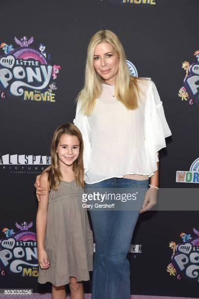 Aviva Drescher with daughter Sienna Drescher attend 'My Little Pony The Movie' New York screening at AMC Lincoln Square Theater on September 24 2017...