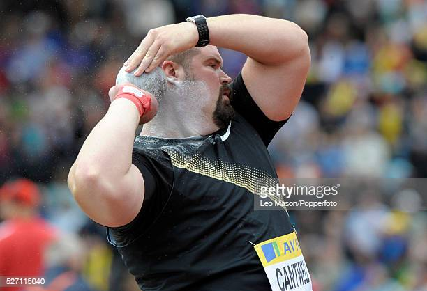 Aviva London GP athletics Crystal Palace Sports Centre London UK Mens Christian Cantwell USA in the mens shot put final The event was won ky Reese...