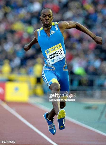 Aviva London GP athletics Crystal Palace Sports Centre London UK Alexis Copello CUB in the triple jump final The event was won by Christian Olsson SWE