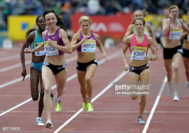 Aviva London GP athletics Crystal Palace Sports Centre London UK Mariya Savinova RUS wins the ladies 800m final