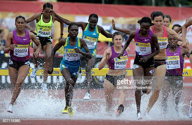 Aviva London GP athletics Crystal Palace Sports Centre London UK Ladies 3000m steeplechase final The event was won by Chemos Cheiywa KEN