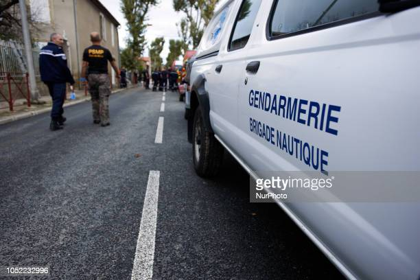 A avn of the Gendarmerie Flash floods swamped towns and villages around the fortress city of Carcassonne in Aude as the Trapel river and the Aude...