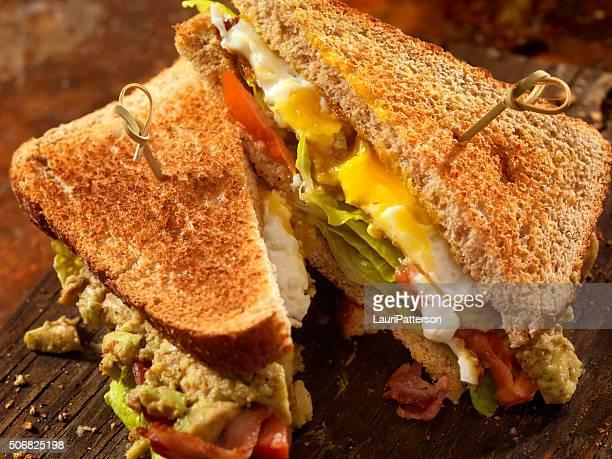 Avocado and Egg, BLT Sandwich