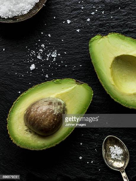 Avocado and spoon