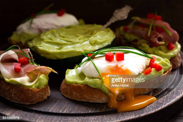 Avocado cream appetizers