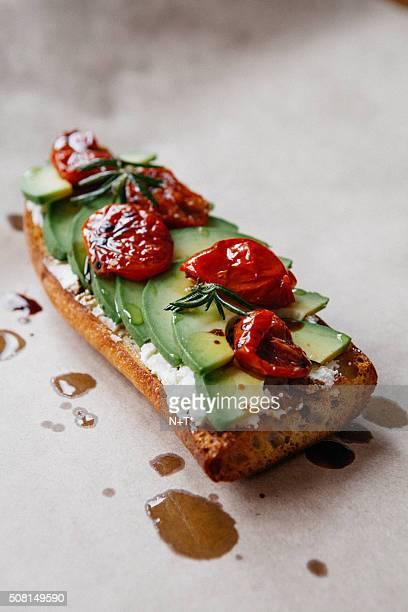 Avocado crostini