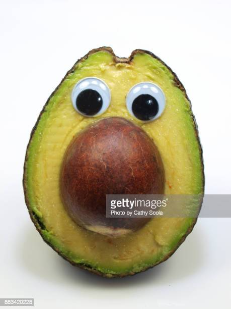 avocado face - googly eyes stock pictures, royalty-free photos & images