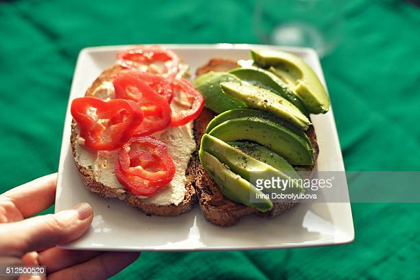 avocado glutan free toast for lunch