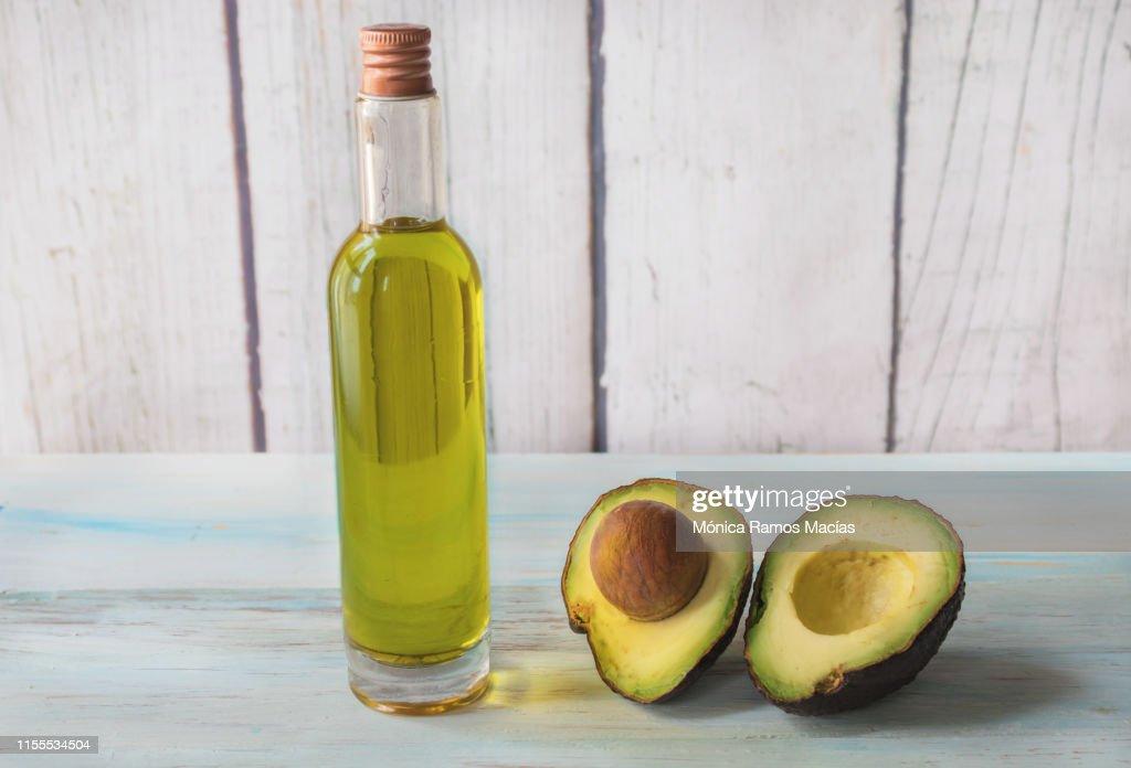 Avocado oil first cold pressure : Stock Photo