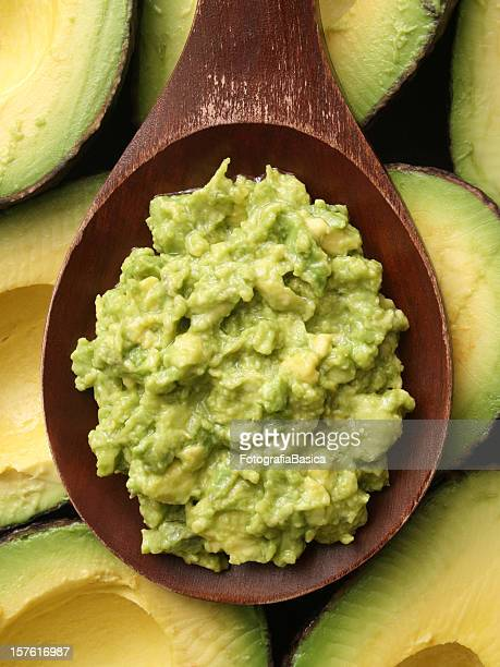 avocado - pureed stock photos and pictures