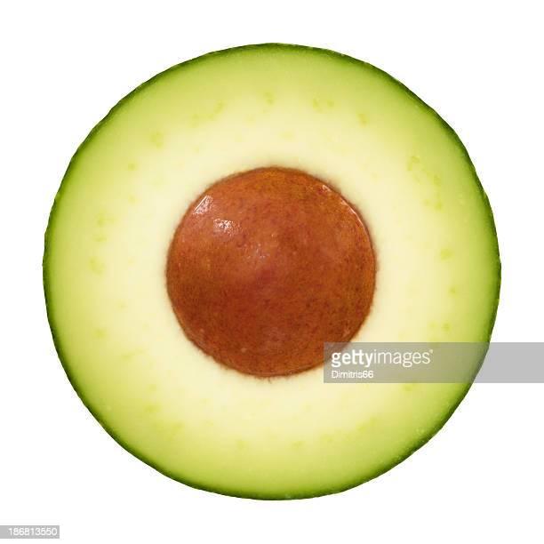 Avocado portion on white