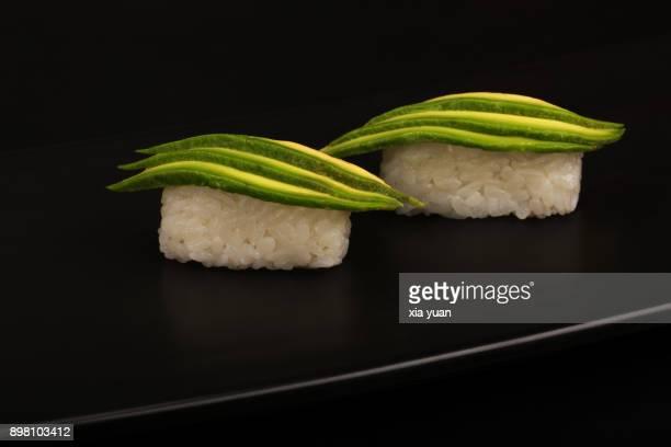 avocado sushi - nigiri ストックフォトと画像