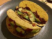 taco with avocado vegetables