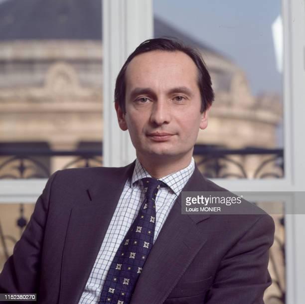 Avocat et homme d'affaires français Jérôme Bédier à Paris en février 1996, France.