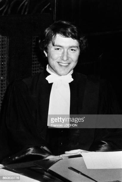 Avocat lors de sa cérémonie de prestation de serment au Palais de justice le 30 mai 1979 à Paris France