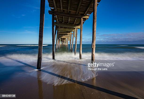 avon fishing pier - cape hatteras stock pictures, royalty-free photos & images