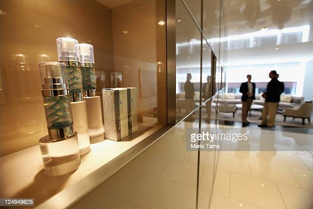 Avon products are displayed inside the newly completed US headquarters for Avon Products Inc on September 14 2011 in New York City The 'green' 275000...