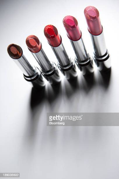 Avon Products Inc are arranged for a photograph in New York US on Wednesday Feb 15 2012 Avon Products Inc the doortodoor cosmetics seller conducting...