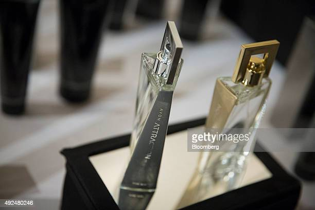 Avon Products Inc Attraction perfume is displayed during the company's 2015 Holiday Meeting in New York US on Tuesday Oct 13 2015 Avon Products Inc...