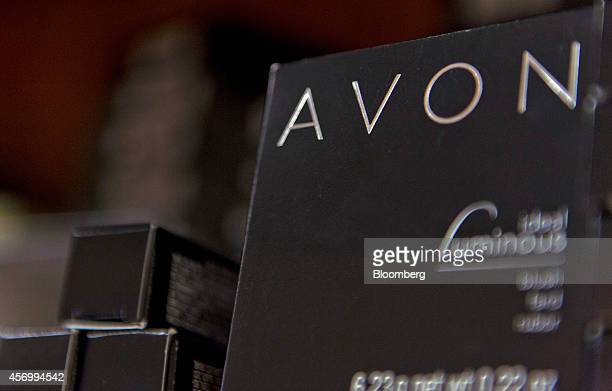 Avon Products Inc items sit on a shelf at the office of a representative in McAllen Texas US on Thursday Aug 28 2014 The top 10 US Avon districts are...